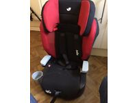 Baby car seat and high chair.