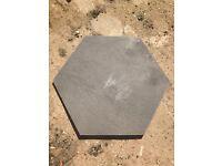 Stunning large contemporary hexagonal stone tiles