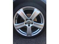 4 X ALLOY WHEEL AUDI A4 225/40 Z R18 92W XL INCH IN EXCELLENT CONDITION