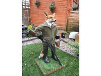 Taxidermy. Fox. Hunter. Shooting.