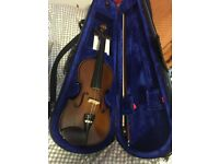 1/2 size violin brown wood