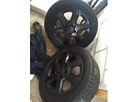 4 astra alloy wheels and tyres