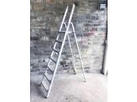 Aluminium ladder with top step