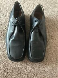 Next Black Leather Shoes Size 10