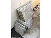 Mixed Coloured Paving Slabs