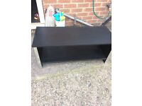 Black ash effect coffee table