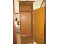SINGLE WARDROBE AND MATCHING CHEST OF DRAWERS