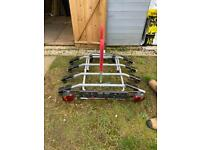 Four bike tow bar bike rack