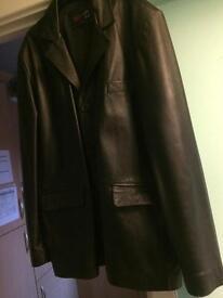 Genuine men's leather jacket