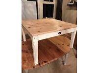 Beautiful distressed pine coffee table with drawers