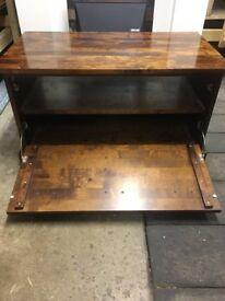 Solid Polished Oak TV Stand
