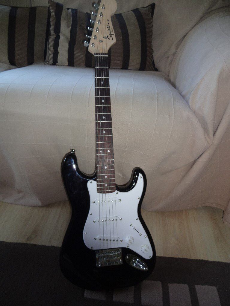 ef127f9c46 Fender Squier Mini Strat. 3/4 size electric guitar in black. Excellent  condition. Includes soft case