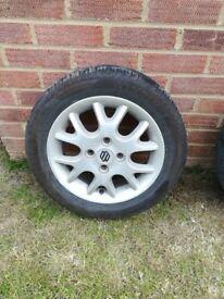 Tyre and suzuki alloy 165/60 R14