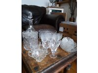 29 pieces of good quality crystal glassware in lovely condition