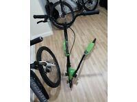Mountain bike & flicker scooter