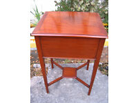 Night stand bedside table laptop desk vintage sewing cabinet storage sewing box needlework table