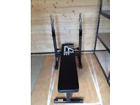 Mirafit Folding Weight Bench with Dip Station - £40