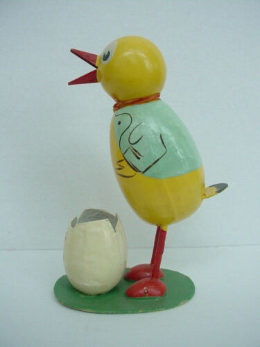 Large Old Germany Chick with Egg Candy Container