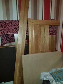 King size bed solid oak bed fram