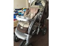 Pushchair with carrycot