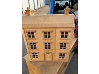 Wooden dolls house 3 tier