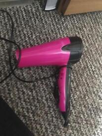 Pink Superdrug hairdryer