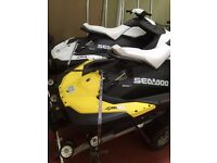 BARGAIN!! 2015 Sea-Doo Sparks 2-Up Rotax 900 HO ACE iBR with twin trailer