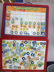Magnetic children's reward chart