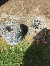 X2 rolls barbed wire