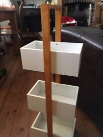Freestanding white standing storage boxes - ideal for bits and pieces, kids arts & crafts