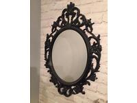 Ikea black oval mirror