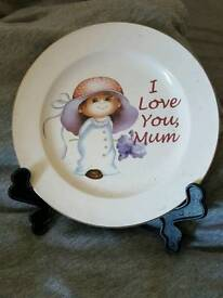lovely mum plate and stand