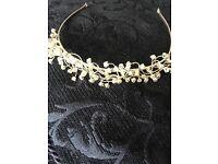 Silver Tiara with beautiful rhinestones
