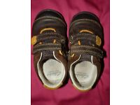 Clarks first shoes - boys size 4.5 G with velcro straps