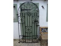 Wrought Iron Arched Gate.
