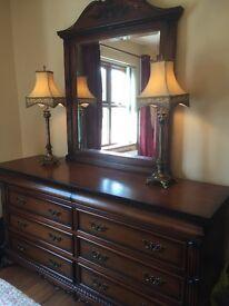 Bedroom furniture/wardrobes/dresser/mirror/bedside lockers/lamps