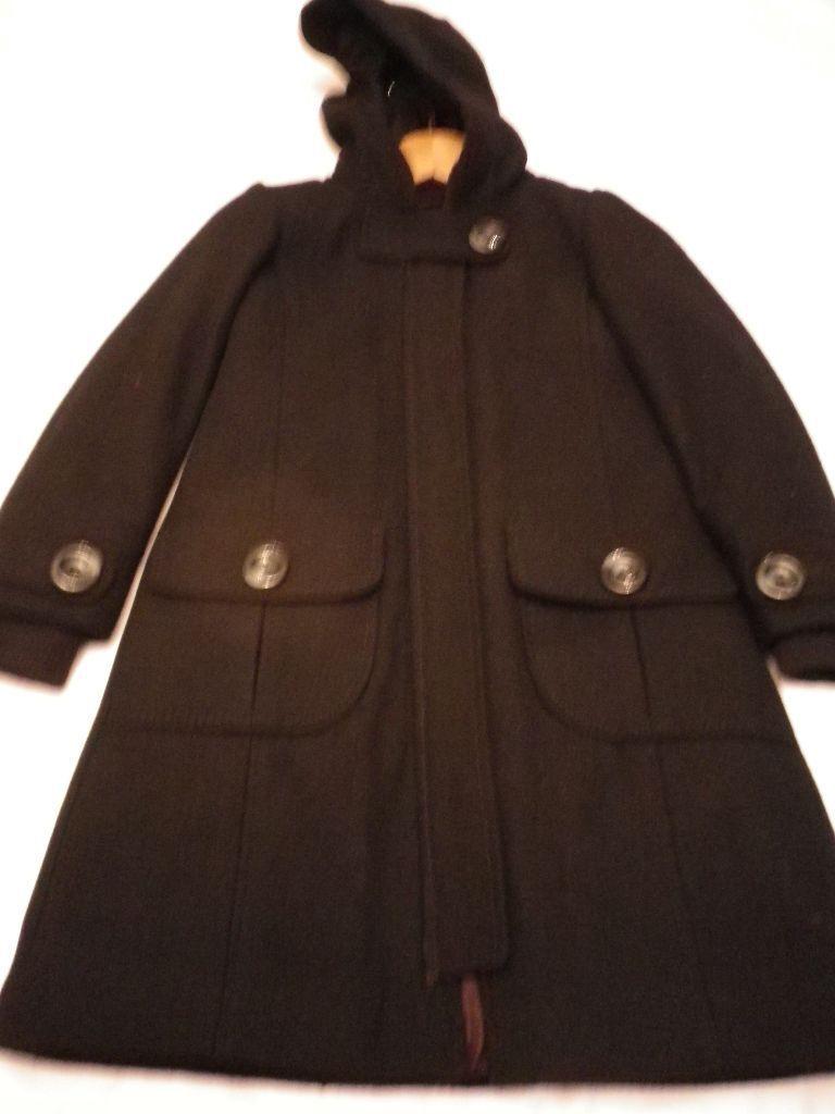 NEXT Girls Black Wool Coat Age 7 -8 Years | in Renfrew ...
