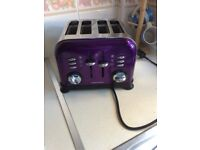 Morphy Richards toaster (purple)