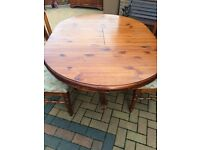 Solid Pine Ducal Table and four chairs