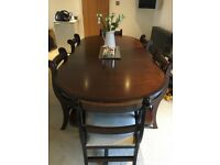 Quick sale, Dinning room table, 6 chairs, corner unit and side unit
