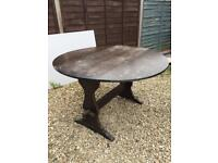 Wooden drop leaf kitchen dining table