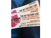 2 X The Hit Factory Live Gold Circle Tickets @ Livewire Festival Blackpool