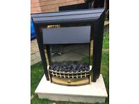 Dimplex coal effect electric fire with marble hearth