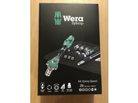 "Wera KK Zyklop 26 Piece Kraftform Kompakt Ratchet & Bit Set 1/4"" Drive BRAND NEW BOXED"