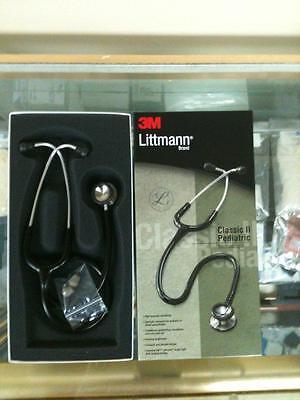 3m Littmann Classic Ii Pediatric Stethoscope New 2113-black Color
