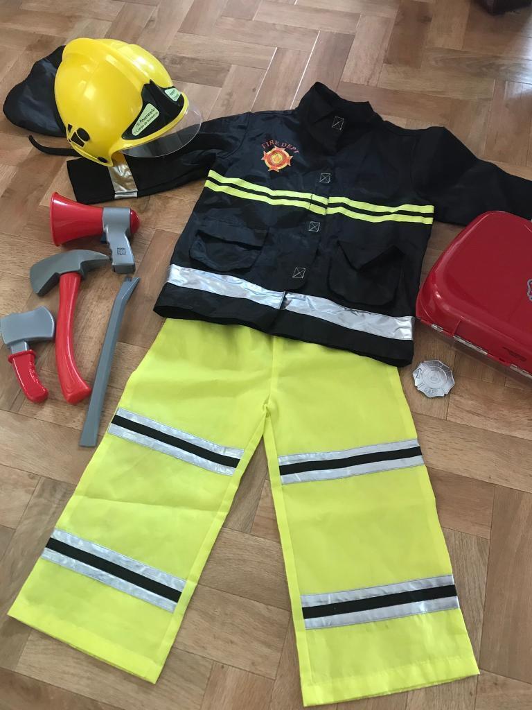 Elc Firefighter Fancy Dress Costume Accessories In Lowestoft