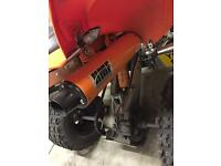 Yamaha raptor 700R full exhaust system!