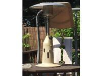 Garden table patio heater
