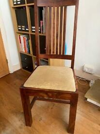 2 Solid wood dining chairs - from John Lewis