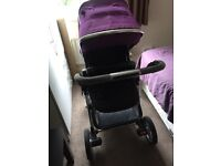 Silver cross pushchair and car seat